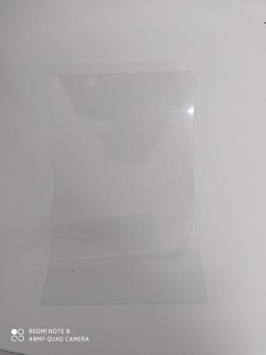 lamina pet cristal 330 micrones  25cmx16cm  25 unidades