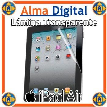lamina protector pantalla ipad 5 air transparente