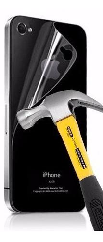 lamina protector trasero anti-shock apple iphone 4 4s