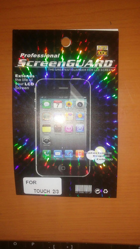 lamina protectora pantalla transparente ipod touch 2g/3g