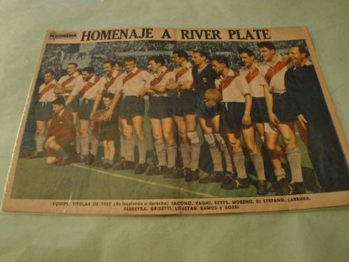 lamina river plate 1947 - revista descamisada