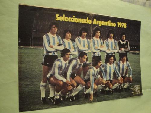 lamina seleccion argentina 1978 el grafico