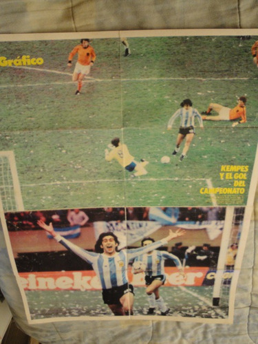lamina seleccion argentina campeon 1978 - el grafico