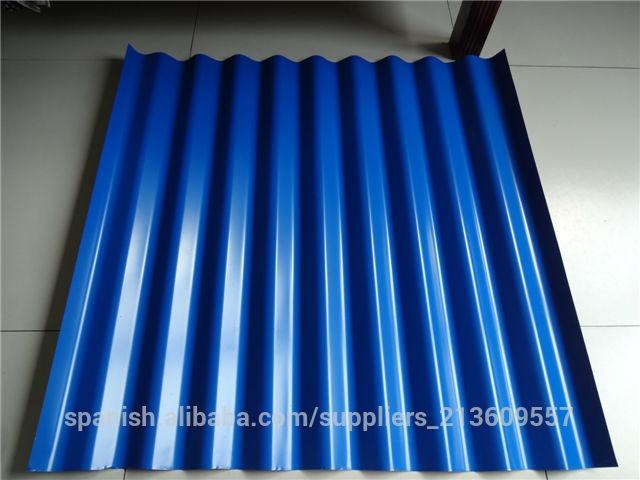 Lamina techo azul zinc galvanizada de 1 80x90 0 18mm detal for Laminas vinilicas para paredes