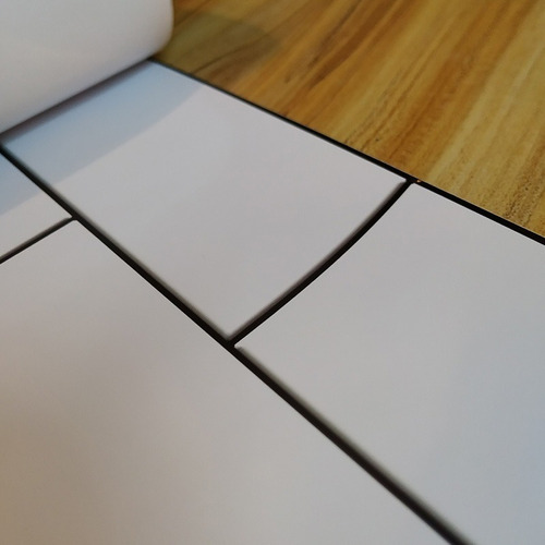 lamina vinilo autoadhesivo azulejos subway blancos