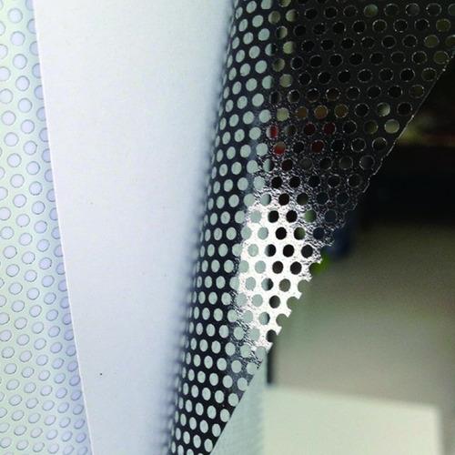 lamina vinilo perforado one way vision windows vision blanco