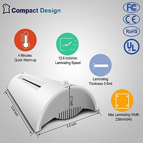 laminador termico para a4a6 maquina de laminado con sistema