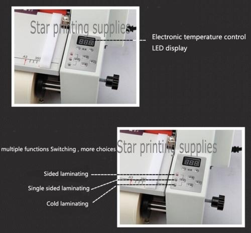 laminadora digital de tabloides 110v, 2 lados, ancho 35 cm