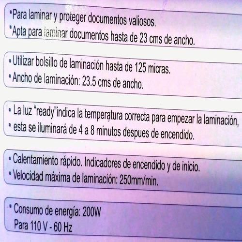 laminadora documento calibre 5 carta oficio laminadora ig a4