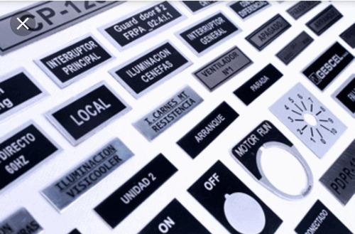 láminas abs rowmark gravoply identificador tablero electrico