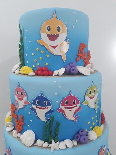 laminas comestibles baby shark