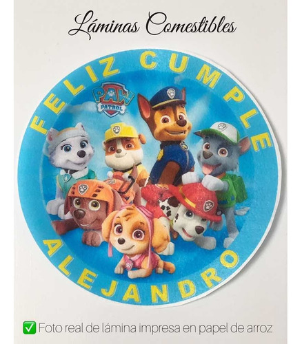 láminas comestibles personalizadas torta galletas cupcakes