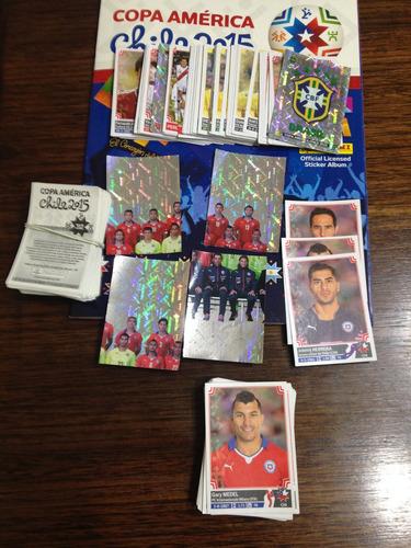 laminas de copa america chile - 2015