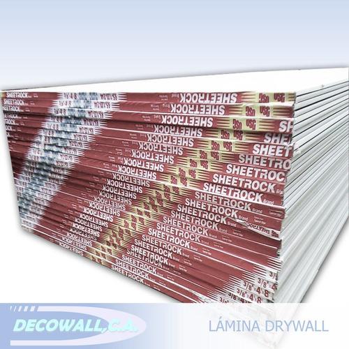 laminas de drywall 3/8  techo y pared (cielo raso, yeso)
