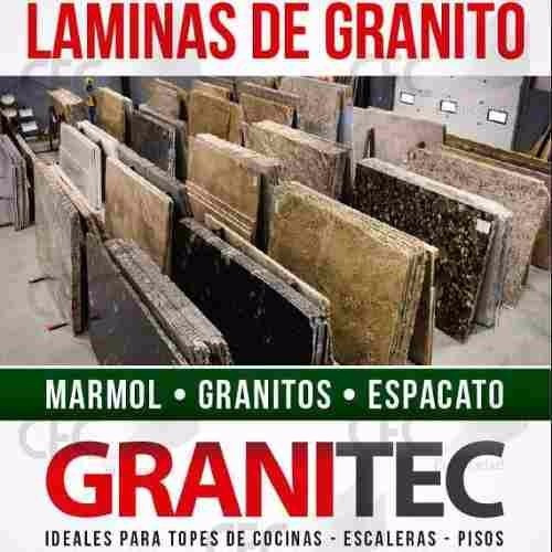 láminas de granito, topes de granito, cuarzo y mármol