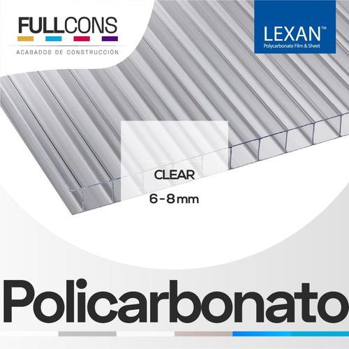 láminas de policarbonato alveolar uv techos, pérgolas