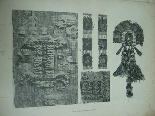 laminas de textiles precolombinos, 1925.