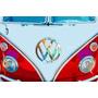 Ilustracion De Volkswagen Combi Vw - Lamina 45 X 30 Cm.