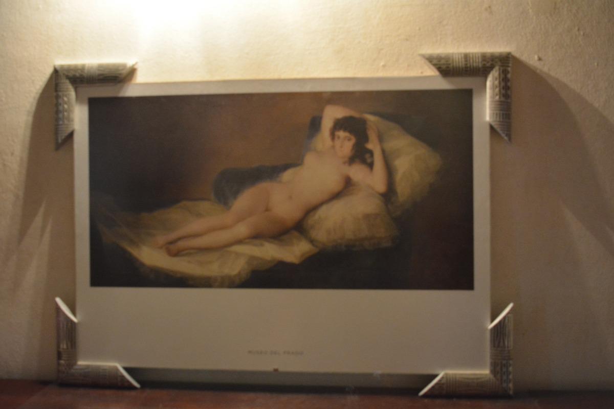 Láminas Enmarcadas Museo Del Prado Maja Desnuda O Vestida 220585