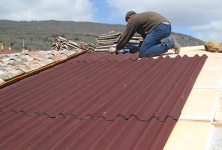 Laminas fibrobitumen cl sica onduline para techos 304 for Tipos de laminas para techos de casas