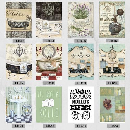 laminas para cuadros 20x30 baño o otras temáticas