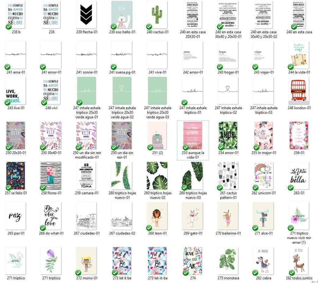 Láminas Para Enmarcar Modernas/ Frases Ilustraciones 20x30cm - $ 60 ...