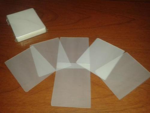 laminas para plastificar cedula  175 mic. 100 laminas