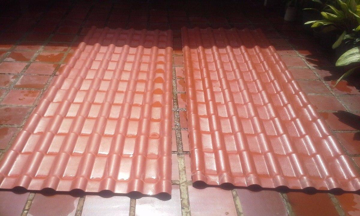 Laminas para techo en pvc color roja de x bs for Laminas de techos para casas