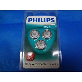 Lâminas Philips Hq6 De Corte Para Barbeadores De Modelos Hq6