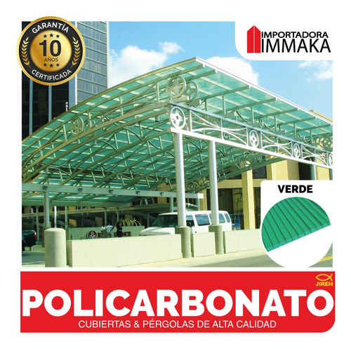 láminas policarbonato alveolar techos, cubiertas pergolas uv