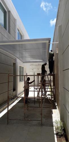 laminas policarbonato para toldos techos terrazas cupulas