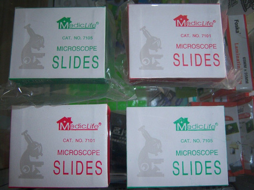laminas porta objetos microscopio. escarchado & bordes