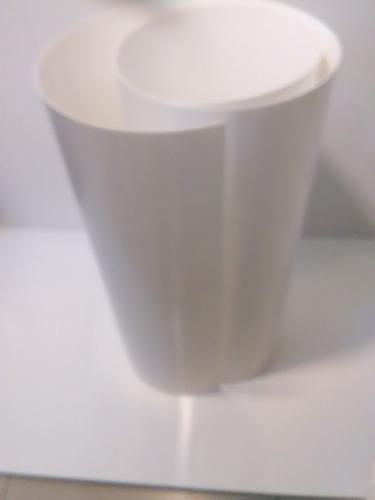 láminas pvc blancas de polipropileno de 0,4mm de 120x80cm