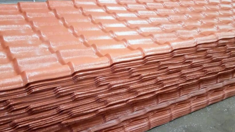 Laminas pvc para techo tipo tejas de bs for Tipos de techos