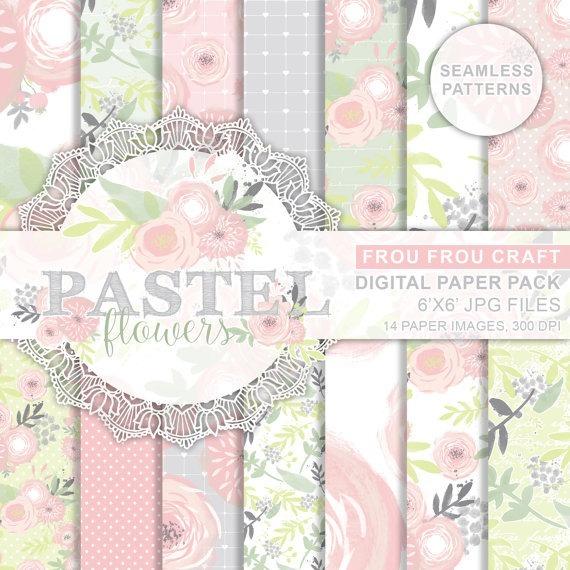 Láminas Scrapbook Kit Para Imprimir Vintage Colores Pasteles - $ 15 ...