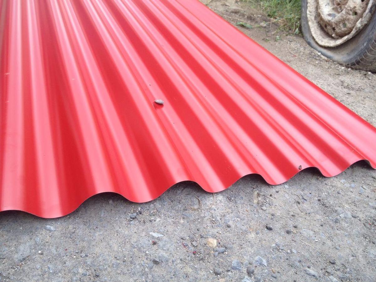 L minas techo de hierro rojas bs en mercado - Lamina de hierro ...