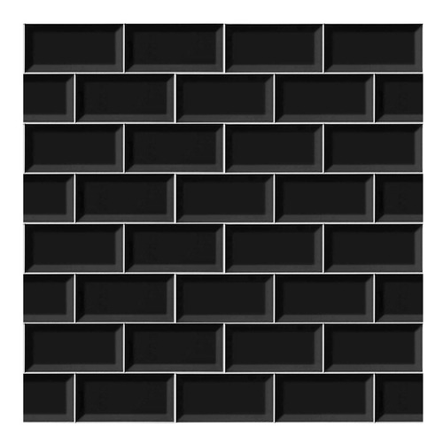 laminas vinilos autoadhesivos azulejos modelo subway negro