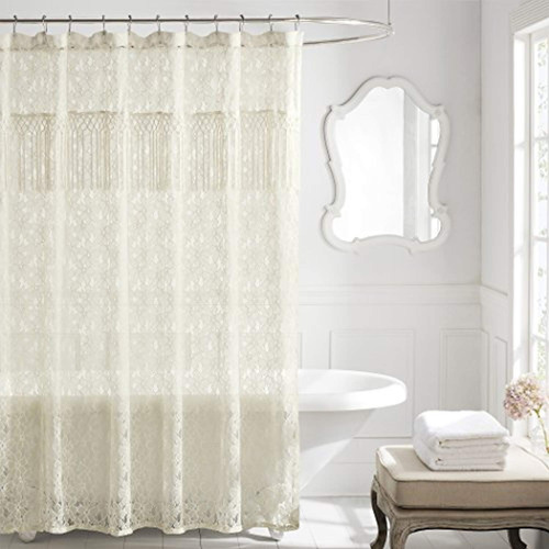 lamont home everly cortina de ducha marfil