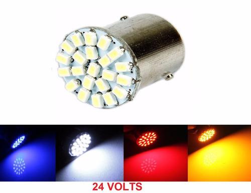 lampada 22 led ba15s 1 polo p21w 24v (caminhao) (unidade)