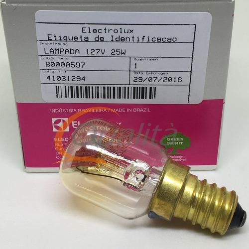 lampada 25w forno fogão electrolux original 110 volts e14