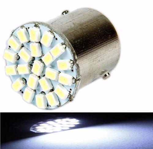 lampada ba15s 22 led 1 polo varias cores 1156 (unidade)