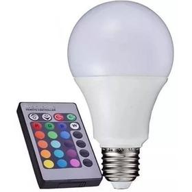 Lampada Bulbo Led Rgb 3w+controle Remoto E27 Bivolt