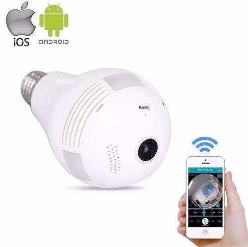 lampada camera espiã ip led wifi hd panorâmica 360º-124024c