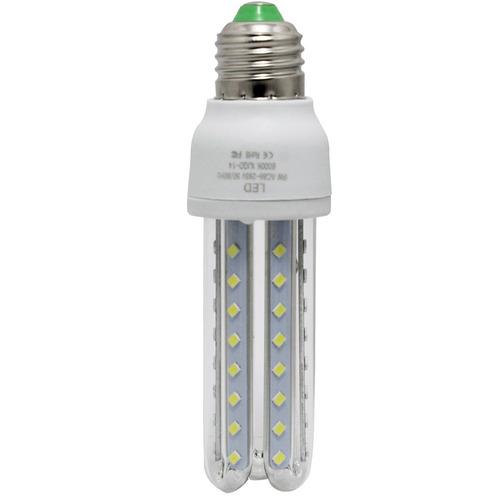 lampada de led 9w 3u bocal e27 branco frio economica bivolt