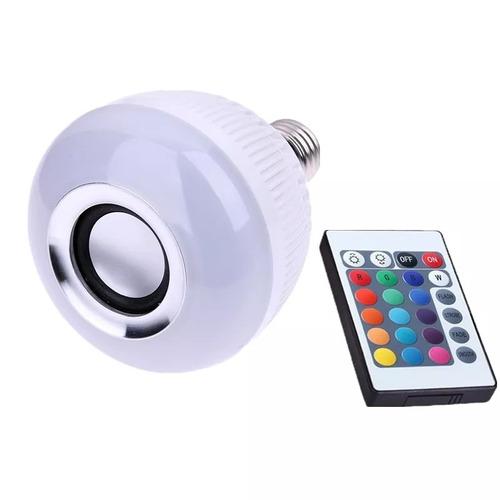 lampada de led bluetooth rgb 16 cores music controle remoto