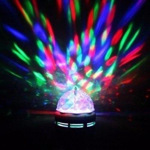 lampada de led colorida giratória