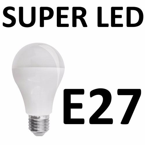 lampada de led residêncial 6w super econômica e27 6400k 12x