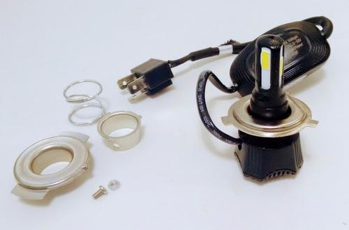 lampada farol 4 leds h4  h6 moto carro cb300 nx400 xj6 xre