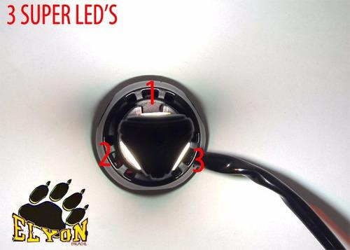 lampada farol led moto 3d bi-xenon 8000k / 4400 lumens