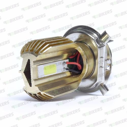 lampada farol led moto 6000k h4 12v sem reator tipo xenon